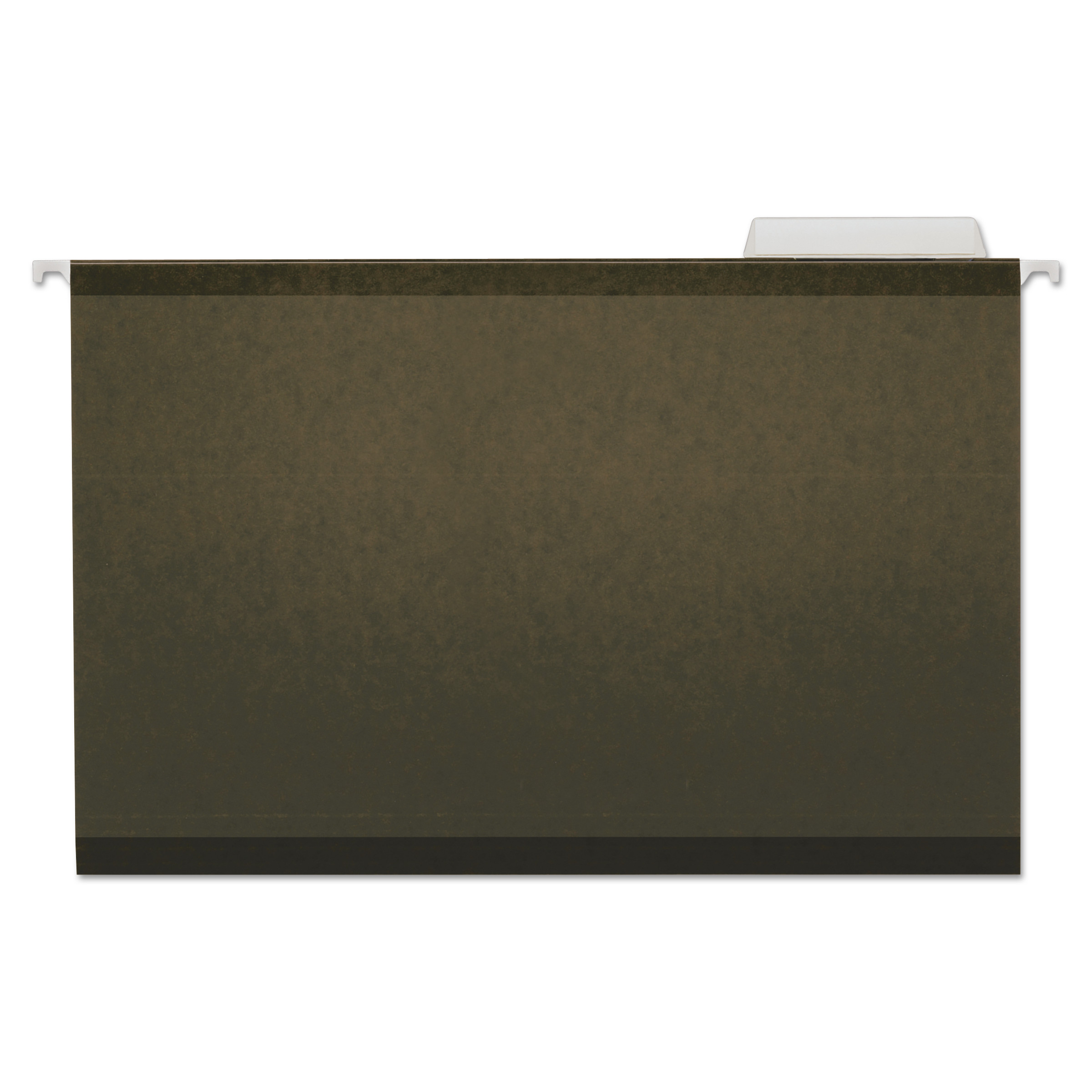 Reinforced Recycled Hanging Folder, 1/3 Cut, Legal, Standard Green, 25/Box