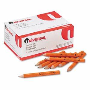 Golf & Pew Pencil, HB, Yellow Barrel, 144/Box