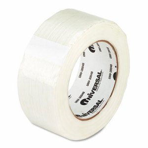 "110# Utility Grade Filament Tape, 48mm x 54.8m, 3"" Core, Clear"
