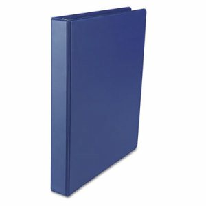 "Economy Non-View Round Ring Binder, 1"" Capacity, Royal Blue"