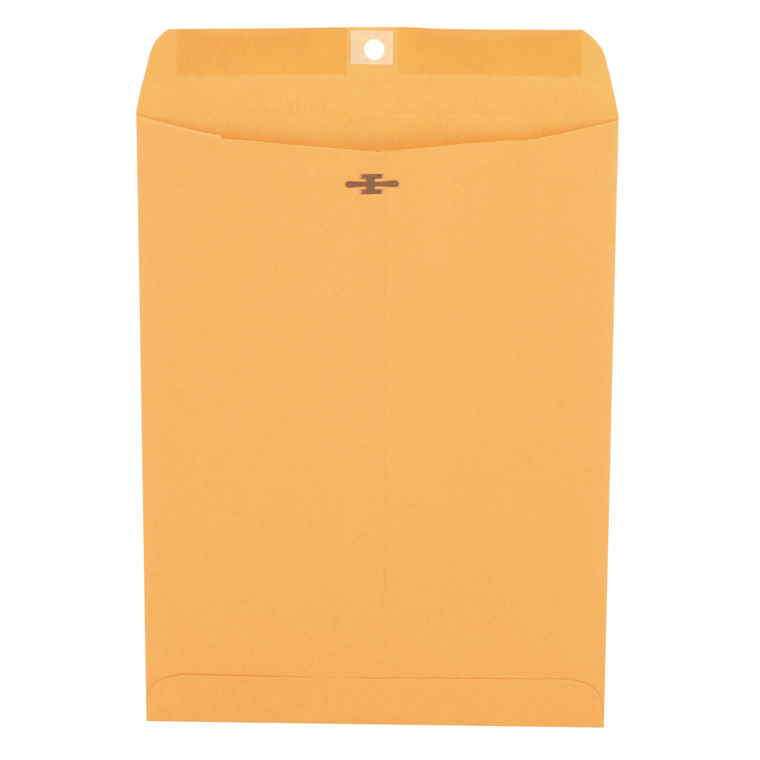 Kraft Clasp Envelope, Center Seam, 28lb, 9 x 12, Brown Kraft, 100/Box
