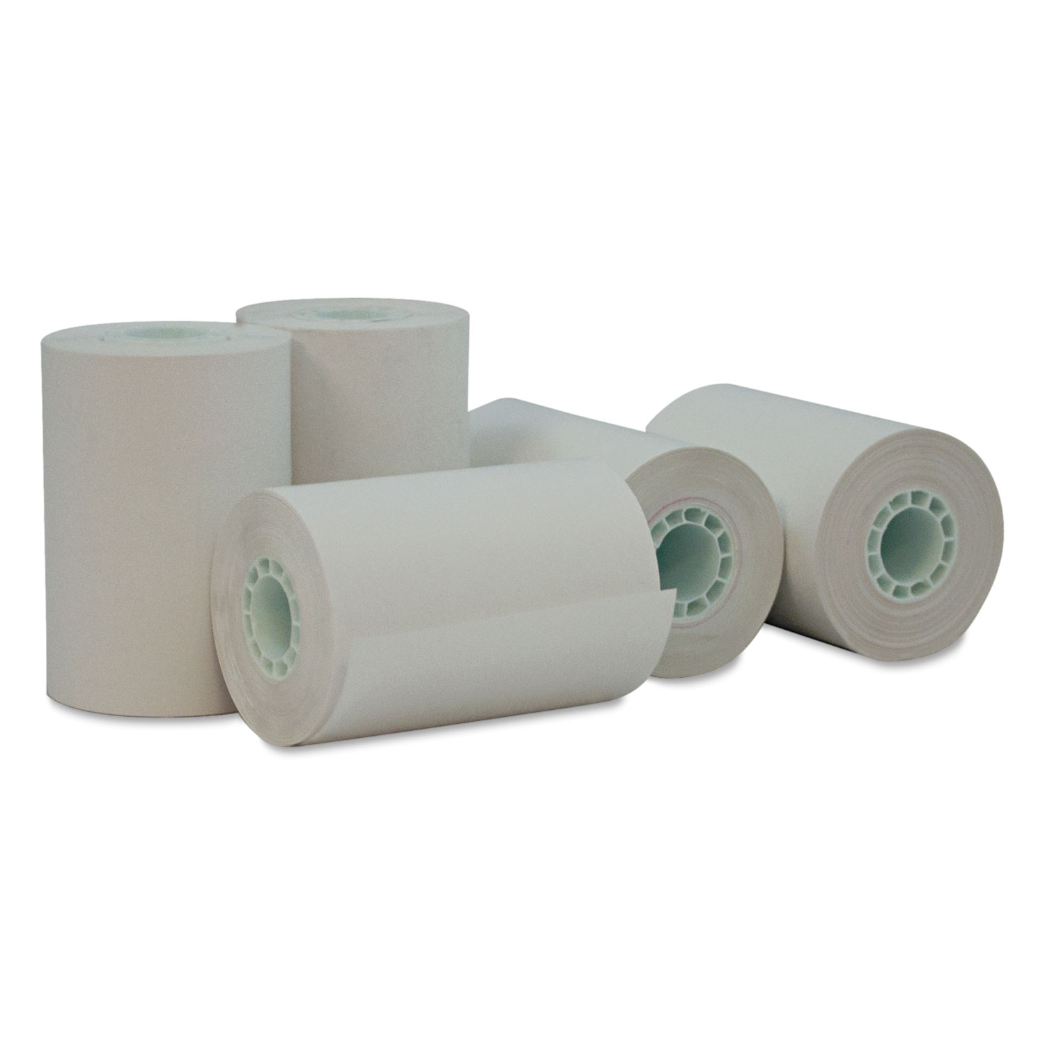 "Single-Ply Thermal Paper Rolls, 2 1/4"" x 55 ft, White, 50/Carton"