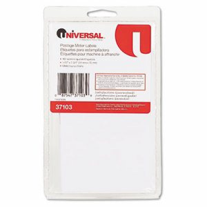 Self-Adhesive Postage Meter Labels, 1-1/2w x 2-3/4 or 5-1/2, WE, 40 Sheets/Pack