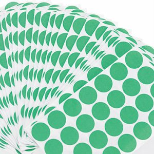 "Self-Adhesive Removable Color-Coding Labels, 3/4"" dia, Green, 1008/Pack"