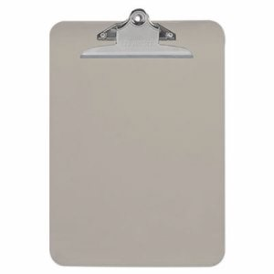 "Plastic Clipboard with High Capacity Clip, 1"" Capacity, Holds 8 1/2 x 12, Smoke"