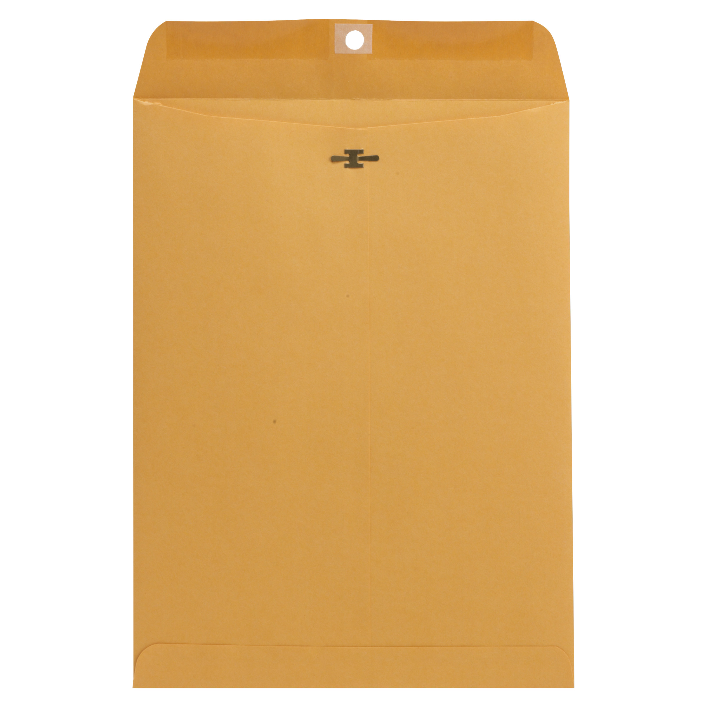 Kraft Clasp Envelope, Center Seam, 32lb, 9 x 12, Brown Kraft, 100/Box