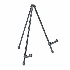 "Portable Tabletop Easel, 14"" High, Steel, Black"