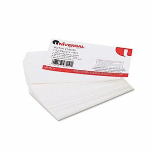 Ruled Index Cards, 3 x 5, White, 100/Pack