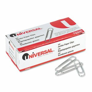 Smooth Paper Clips, Wire, Jumbo, Silver, 1000/Pack