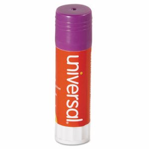 Glue Stick, .74 oz, Stick, Purple, 12/Pack