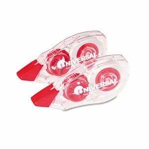 "Correction Tape with Two-Way Dispenser, Non-Refillable, 1/5"" x 315"", 2/Pack"