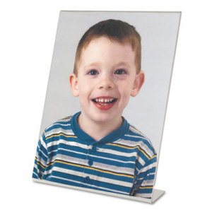 Clear L-Style Freestanding Frame, 8 x 10 Insert, 3/Pack