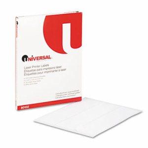 Laser Printer Permanent Labels, 1 x 2 5/8, White, 3000/Box