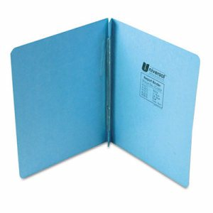 "Pressboard Report Cover, Prong Clip, Letter, 3"" Capacity, Light Blue"