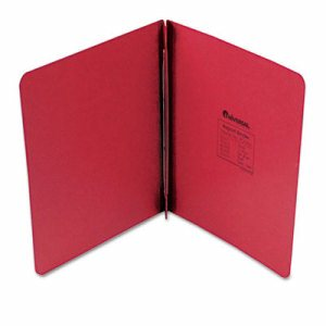 "Pressboard Report Cover, Prong Clip, Letter, 3"" Capacity, Executive Red"
