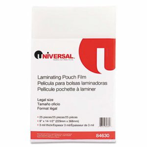 Clear Laminating Pouches, 3 mil, 9 x 14 1/2, 25/Pack