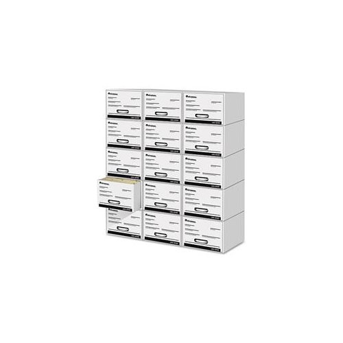 Heavy-Duty Storage Box Drawer, Letter, 14 x 25 1/2  x 11 1/2, White, 6/Carton