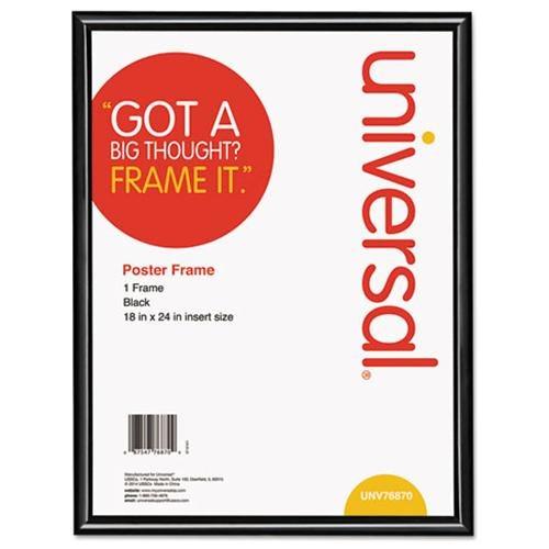 Glossy Black Poster Frame, 18 x 24, 2/Carton