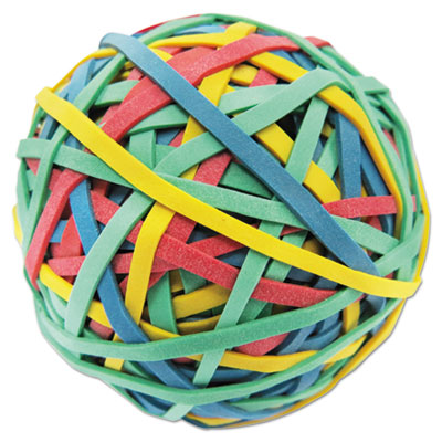 """Rubber Band Ball, 3"""" Size, 2 3/4"""" Length, 260 Bands"""