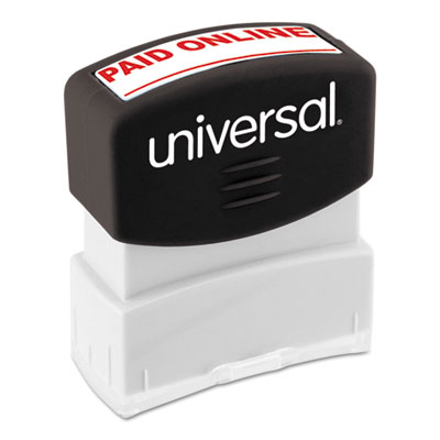 Message Stamp, PAID ONLINE, Pre-Inked One-Color, Red