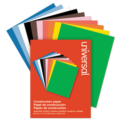 Construction Paper, 76lb, 9 x 12, Assorted, 200/Pack