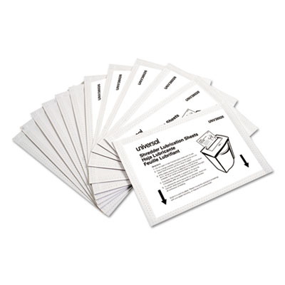 "Shredder Lubricant Sheets, 5.5"" x 2.8"", 24/Pack"