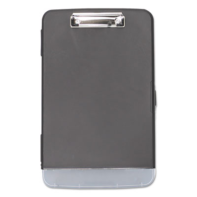 "Storage Clipboard, 1/2"" Capacity, 8 1/2 x 11, 2 Compartments, Black"