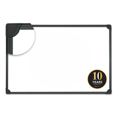 Design Series Magnetic Steel Dry Erase Board, 36 x 24, White, Black Frame