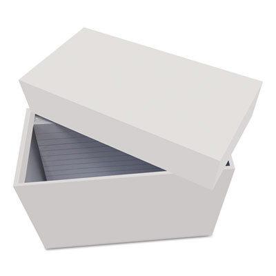 "Index Card Box with 100 Ruled Index Cards, 3"" x 5"", Gray"