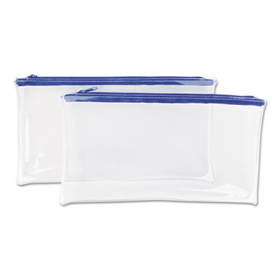 Zippered Wallets/Cases, 11 x 6, Clear, 2 per pack