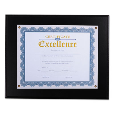 "Award Plaque, 13 1/3"" x 11"", Black"