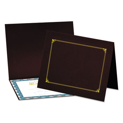 Certificate/Document Cover, 8 1/2 x 11 / 8 x 10 / A4, Burgundy, 6/PK