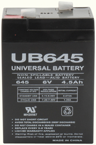 UPG 85998/D5733 Sealed Lead Acid Battery (6V; 4.5Ah; UB645)