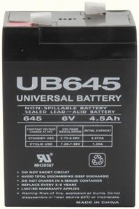 UPG 85998/D5733 Sealed Lead Acid Battery (6V; 4.5Ah; UB645)