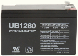 UPG 85986/D5743 Sealed Lead Acid Battery (12V; 8Ah; .187 Tab Terminals; UB1280)