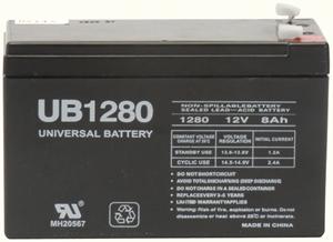 UPG 85986/D5743 Sealed Lead Acid Battery (12V; 8Ah; .187 Tab Terminals; UB1280)
