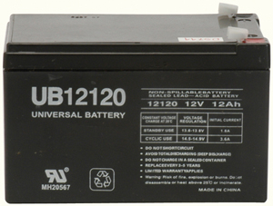 UPG 85971/D5744 Sealed Lead Acid Battery (12V; 12Ah; .187 Tab Terminals; UB12120)