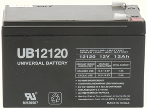 UPG 85974/D5775 Sealed Lead Acid Battery (12V; 12Ah; .250 Tab Terminals; UB12120F2)