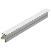 Donn Dx SDX424 Cross Tee, 1-1/2 X 0.014 in x 4 ft L, Steel, White
