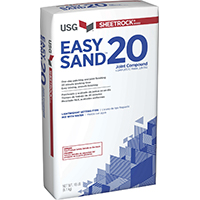Sheetrock Easy Sand 20 384214120 Lightweight Joint Compound, 18 lb Bag, White to Off-White Solid