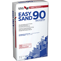 Sheetrock Easy Sand 90 384211120 Lightweight Joint Compound, 18 lb Bag, White to Off-White Solid