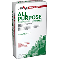 Sheetrock 383700 All-Purpose Drying-Type Joint Compound, 25 lb, Bag, White to Off-White, Solid Powder