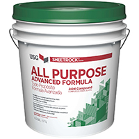 Sheetrock 380119048 All-Purpose Conventional Weight Ready-Mix Joint Compound, 5 gal, Pail, Off-White