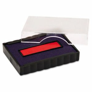 Trodat E4750 Stamp Replacement Pad, 1 x 1 5/8, Blue/Red