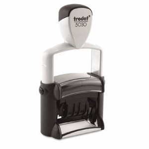 Trodat Professional Stamp, Dater, Self-Inking, 1 5/8 x 3/8, Black