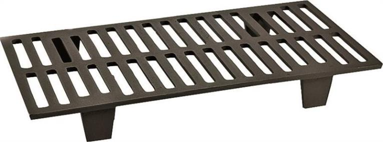 Vogelzang 42G Wood Stove Grate, 11 in W x 21 in D x 2-3/4 in H, Cast Iron