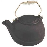 Vogelzang TK-02 Tea Kettle, 3 qt, Cast Iron, Black