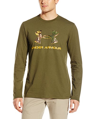UA Camo Fill Logo L/S Greenhead Med 1258082-374-MD