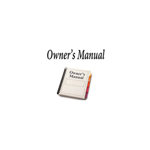 OWNERS MANUAL FOR RD3XL