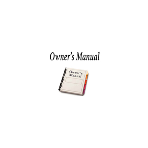 OWNERS MANUAL FOR RD9XL